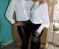 Sexy MILFs in sexy blouses