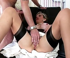 Cheating british trophy wife riding