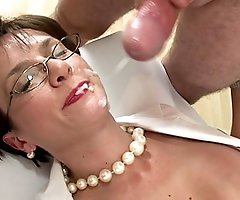 Dominant british milf nurse facial