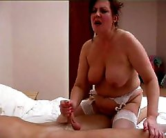 Part2.Horny boy seduces his charming milf in her bedroom